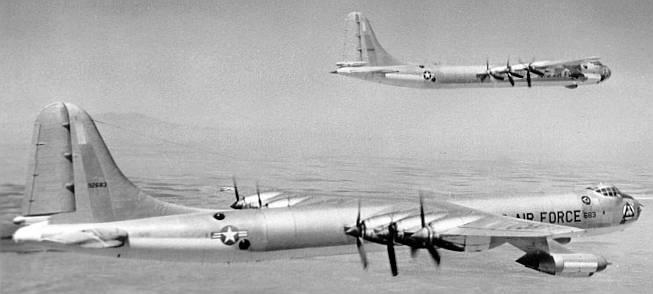 Red dress b 35 bomber aircraft