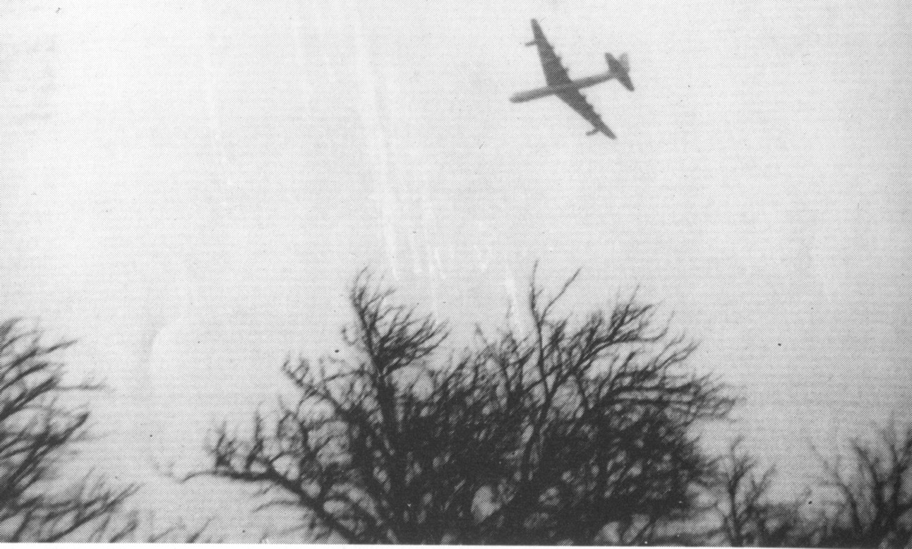Only known photograph of B-36  B36 Crash
