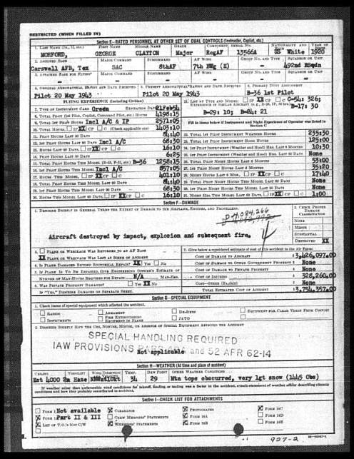 El Paso B-36 Crash Accident Report - Page 2