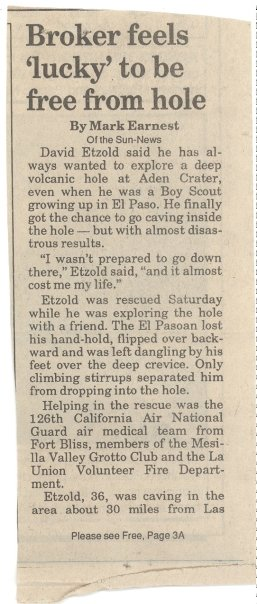 Las Cruces Sun News article - May 7, 1991