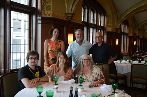 Lunch at the University Club, Chicago, with Chris and Lynn Multhauf