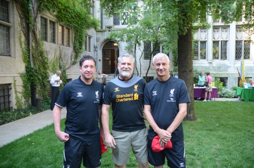 the author, David Etzold, with Liverpool Legends Robbie Fowler and Ian Rush in Chicago, Summer 2014