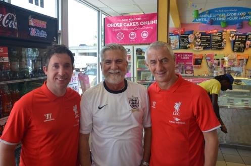 David Etzold with Robbie Fowler and Ian Rush