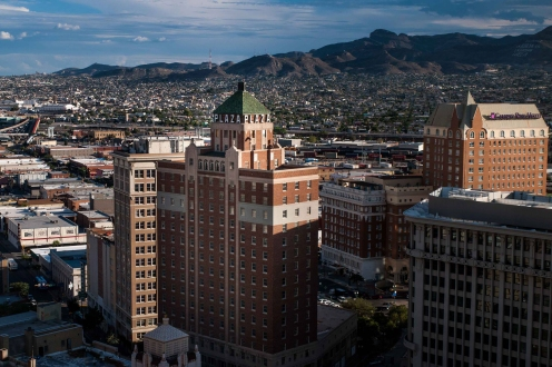 View of Downtown El Paso towards Juarez Mountains to the south. Photo Courtesy Lewis Woodyard.