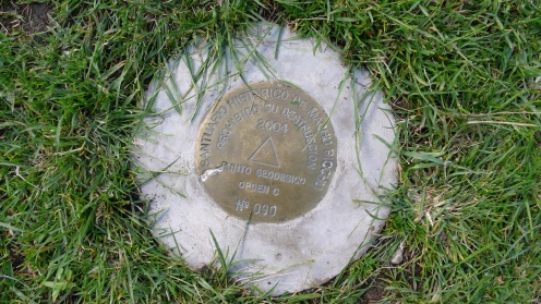 Official Geodetic Marker - Wayllabamba