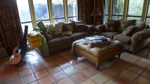 Casa Donnybrook study with flooring of Saltillo tile