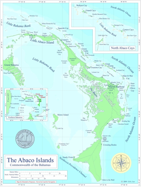 Abaco Islands Map-Commonwealth of the Bahamas-HR